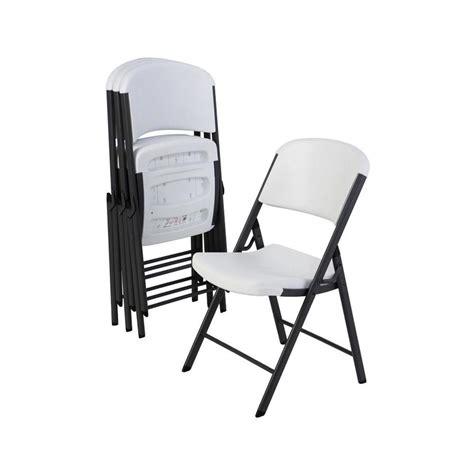 lifetime products indooroutdoor steel white granite standard folding chair  lowescom