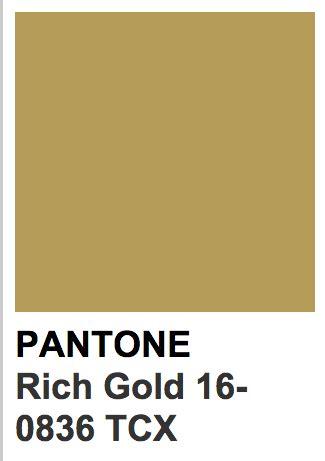 gold pantone color colors