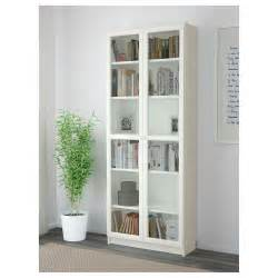 Ikea Birch Bookcase Billy Oxberg Bookcase White 80x202x30 Cm Ikea
