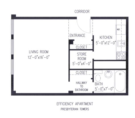 efficiency floor plans efficiency apartment floor plans house plans home designs