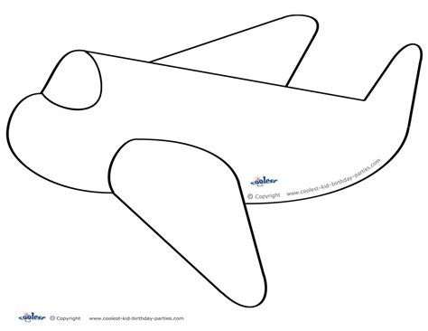Airplane Cut Out Template cut out paper airplane templates crafts