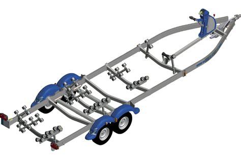 nautilus boottrailer remorque multi rouleaux 2 essieux frein 233 e nautilus n252mf 80