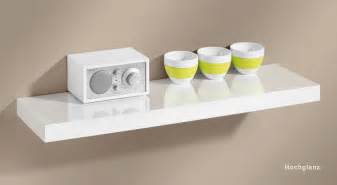 big boy floating shelf white high gloss 10