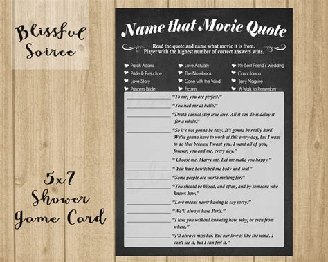 movie quotes game bridal shower game name that movie love quote romantic