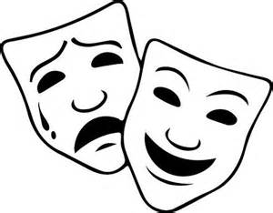 Theatre Mask Outline by 25 Best Ideas About Comedy Tragedy Masks On Tragedy Mask Theatrical Makeup And Theater