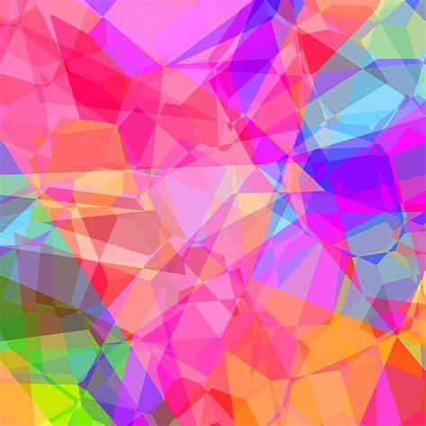 colorful abstract polygon  image  pixabay