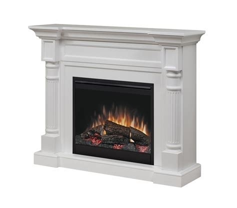 fireplace log set dimplex dfp26 1109w winston electric fireplace and mantel