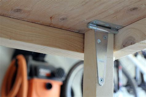 diy hinged table legs turtles and tails fold up garage worktable
