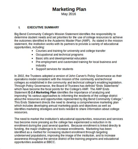 business and marketing plan template 18 microsoft word marketing plan templates free