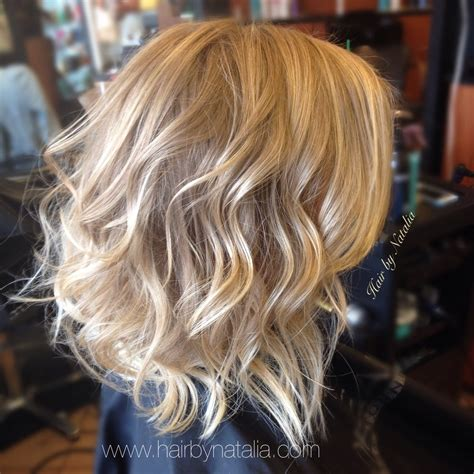 mobile haircuts denver blonde balayage with messy beachy waves on short hair yelp