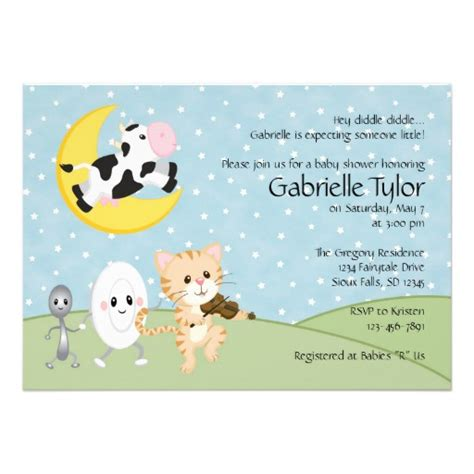 nursery rhyme baby shower invitations 5 quot x 7 quot invitation