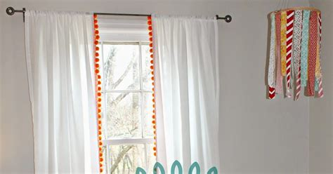 White Curtains With Pom Poms Decorating The Farm Diary On Adding Pom Poms To Curtains