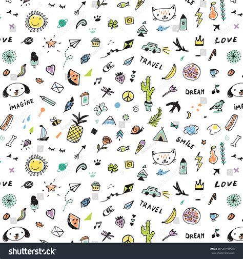 svg pattern object doodle objects pattern stock vector 581591530 shutterstock
