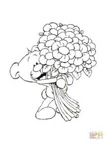 coloring pages of bunch of flowers pimboli with bunch of flowers coloring page free