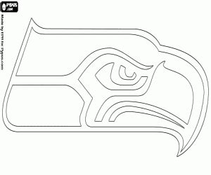seahawks coloring pages nfl logos coloring pages printable 2
