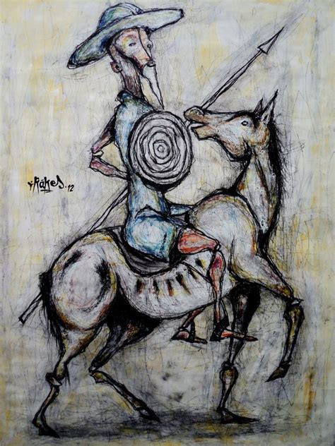 don quixote tattoo t 237 tulo don quijote t 233 cnica mixta sobre papel 35 5x48 5cm