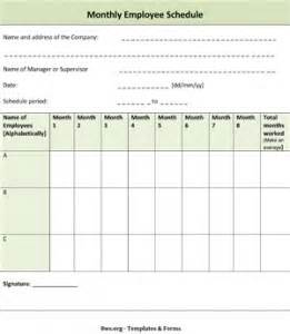 Ms word monthly employee schedule template free download learn