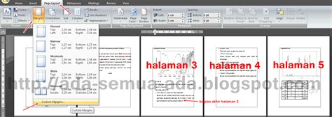 cara membuat halaman pada word landscape membuat halaman landscape dan portrait dalam satu document
