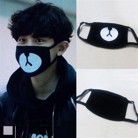 Masker Kpop Masker Rilakuma Chanyeol new arrival exo chanyeol chan yeol same style lucky black mask kpop ebay