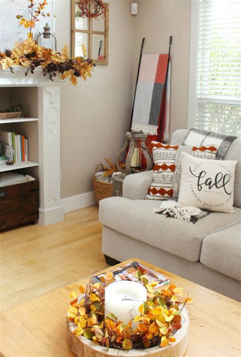 fall living room decor clean  scentsible