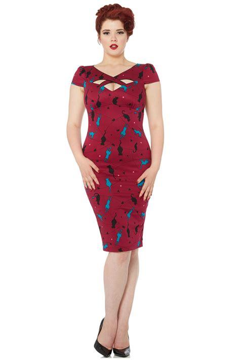 Dress Oline Cat voodoo vixen cat dress retro 50s pin up dress free delivery