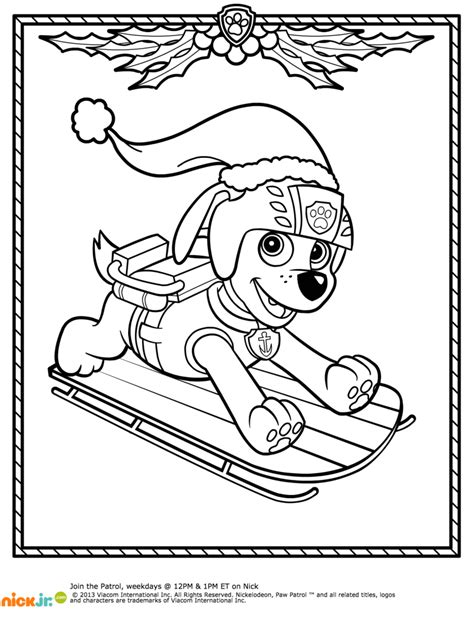 Paw Patrol Winter Coloring Pages | paw patrol winter rescues plus a paw patrol coloring page