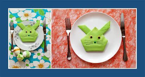 Servietten Falten Ostern Tischdeko by Ostern Deko Ideen