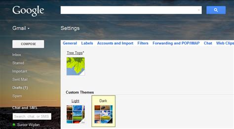 gmail themes download 2012 google introduces custom themes in gmail wotthetech