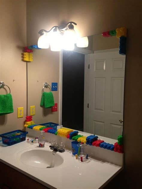 lego bathroom lego bathroom i did for my 3 yr old son a child s space