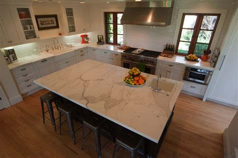 prep sinks for kitchen islands calcutta marble countertop contemporary kitchen