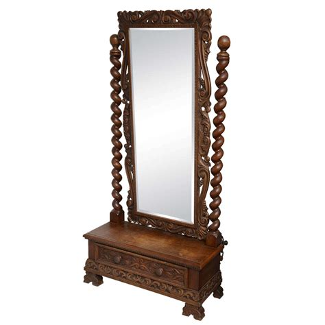 Length Mirror With Drawer by Cheval Dressing Mirror With Single Drawer