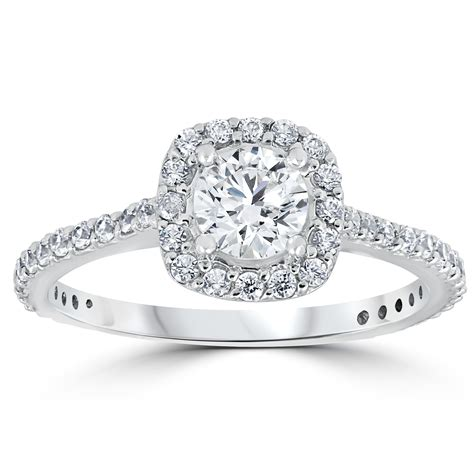 1 1 5ct tdw cushion halo engagement ring 14k