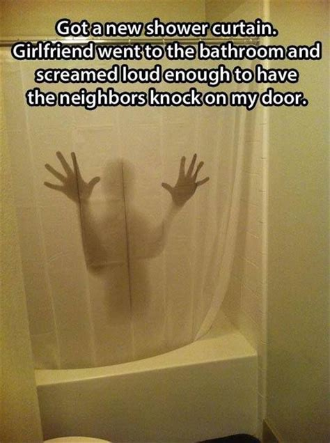 shower curtain fun got a new shower curtain funny pictures