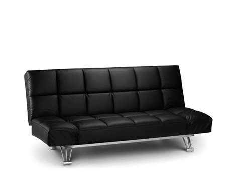sofa bed france manhattan black faux leather clic clac sofa bed