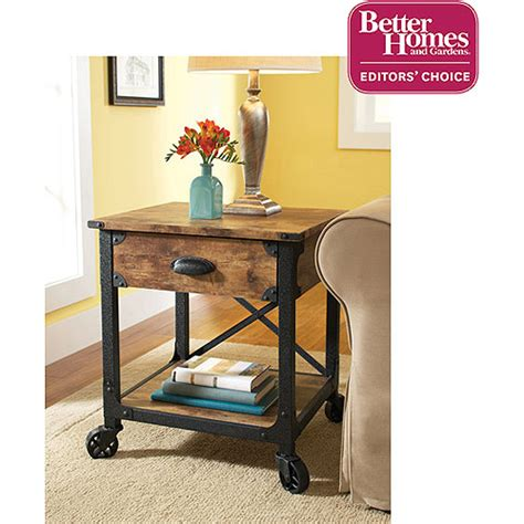 better homes and gardens end table rustic bedding and decor