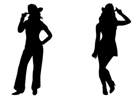 Cowgirl Silhouette Vector Free Download Two Beautiful   pin by thomson chemmanoor on silhouette clip art pinterest