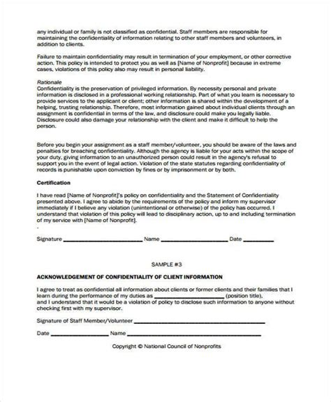 Agreement Letter For Profit 9 Volunteer Agreement Form Sles Free Sle Exle Format