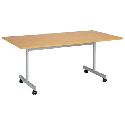 One Eighty Rectangular Flip Top Mobile Meeting Table