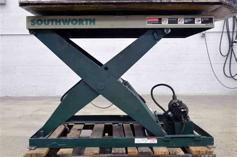 36 table ls southworth ls4 36w ls series backsaver lift table boggs