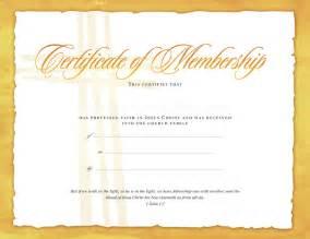 Church Membership Certificate Template by Certificate Of Membership Certificates Church