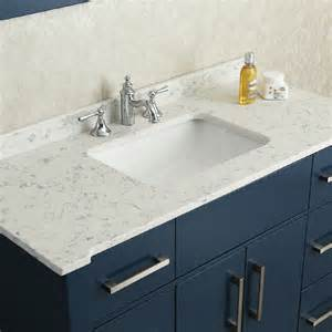 Quartz Vanity Countertop Ariel By Seacliff Radcliff 48 Quot Midnight Blue Single Sink