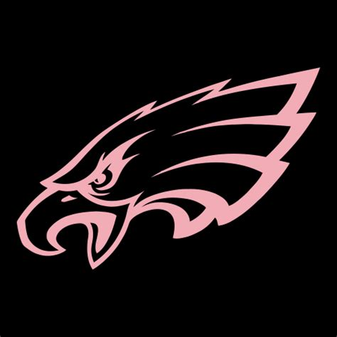 pink eagles wallpaper pink cad cut philadelphia eagles primary logo 1996 present