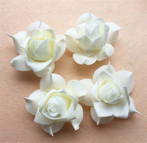 Handmade Foam Flowers - free shipping 100pcs 7cm ivory diy accessries handmade