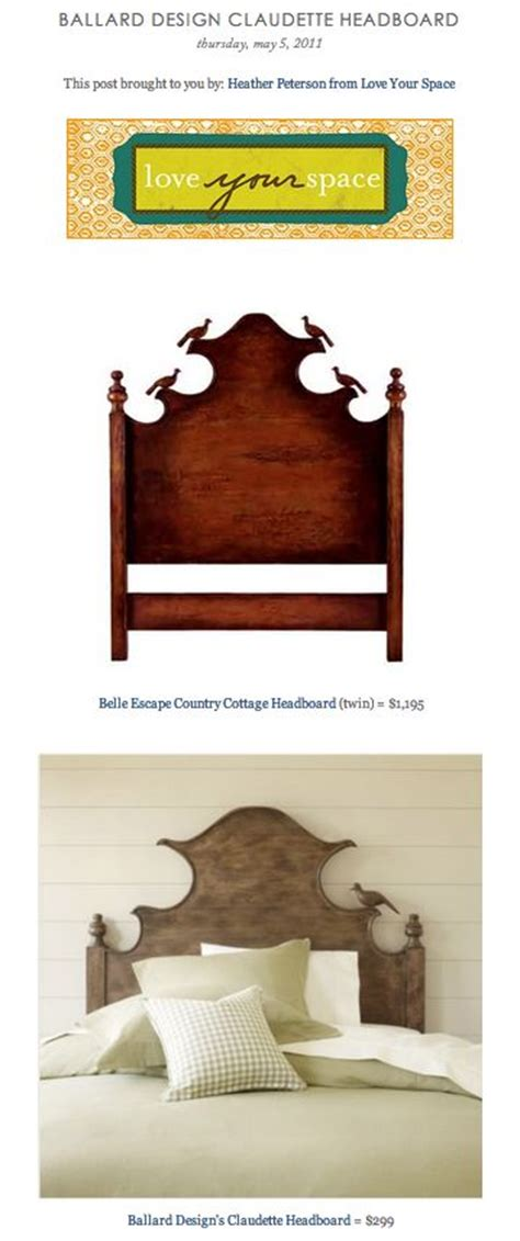 claudette headboard copy cat chic find belle escape country cottage headboard