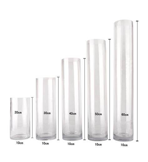Clear Glass Cylinder Vases Bulk by Bulk Lot 12 X Clear Glass Vases Cylinder 60cm X 10cm