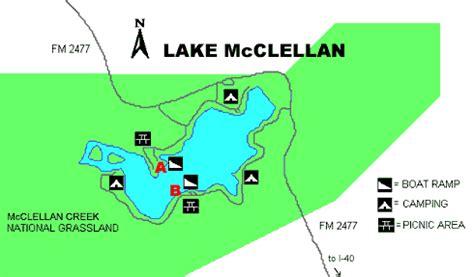 mcclellan texas map access to mcclellan reservoir