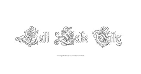 lake city tattoo salt lake city usa capital city name designs page