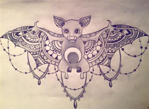 bat sternum tattoo by sapphirebatt on deviantart