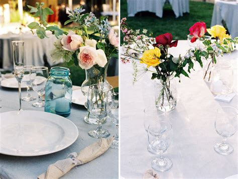 backyard wedding centerpieces a backyard wedding once wed