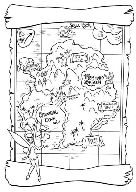 disneyland map coloring page neverland map printable neverland map all things